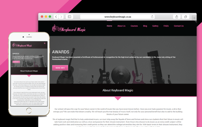 Keyboard Magic Website Development